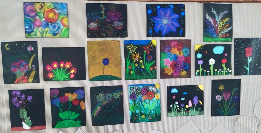 Magiczne kwiaty - prace